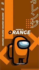 HD among us orange wallpapers