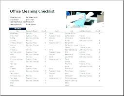 Home Chores Schedule Template Office Cleaning Checklist Template