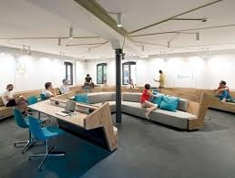 creative office space large. communal spaces have been designed to comfortably fit both large and small groups creative office space