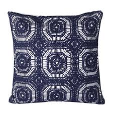 mika home cotton embroidery geometric circles accent decorative pillow case cushion cover for 18x18 inserts