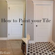 Incredible Best 25 Painting Tile Floors Ideas On Pinterest Painting Tile  Within Painting Floor Tiles Bathroom: ...