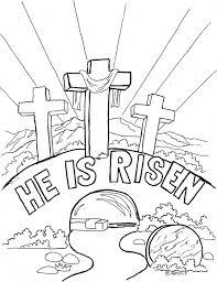 Easter Coloring Sheets For Church The Color Panda