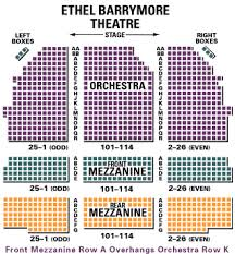 Ethel Barrymore Seating Chart Ethel Barrymore Theatre Seating Chart
