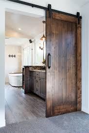 modern barn doors. Barn Door Opens To Modern Master Bathroom For Two | Country Pinterest Bathroom, Opener And Doors
