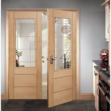 xl palermo 2 xg with clear glass oak internal door