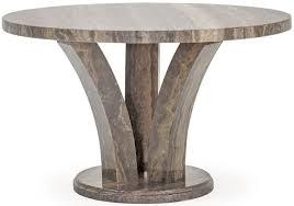 vida living amalfi marble pearl grey round dining table 125cm