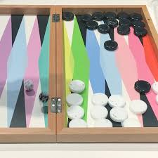 when we were in new york in september for my birthday i had the big idea i saw this beautiful backgammon set at the moma and said to my sister