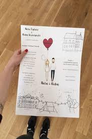personalised portrait & paper goods; illustrated wedding Personalised Drawing Wedding Invitations cool fold out wedding invitations by blanka biernat Peacock Wedding Invitations