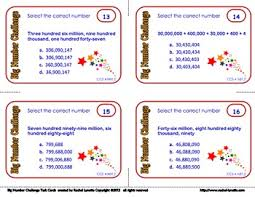 Place Value Task Cards Multiple Choice Cards For Ccss 4 Nbt 2