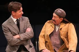 review pyg on remy bumppo theatre chicago theater beat nick sandys and david darlow star as henry higgins and alfred p dolittle in pyg on