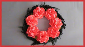 Diy Paper Flower Wreath Diy Paper Flowers Wreath How To Decor Room Home Decoration Youtube