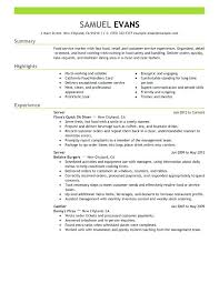 Resume Template Fast Food Cashier Examples For Plates Solar Within