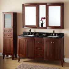 Chic Brown Glaze Wooden 90 Inch Bath Vanity Cabinet With Drawers ...