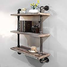 Wall furniture shelves Living Room Industrial Pipe Bookcase Wall Shelfrustic Floating Wood Shelves Shelving 24 Amazoncom Amazoncom Industrial Pipe Bookcase Wall Shelfrustic Floating Wood