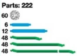 Truncated Solids Chart Green Lines Vismath