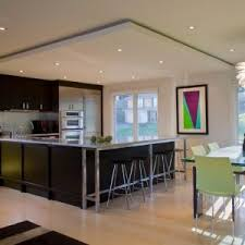 wall art lighting ideas. awesome led recessed lighting with dark wood island plus wall art also glass window for modern ideas n