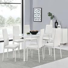 Set Esstisch 6 Stühle Weiß Wohnstatt24