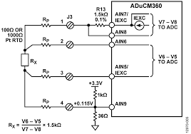 cn0359 circuit note analog devices configuration for 4 wire rtd connection