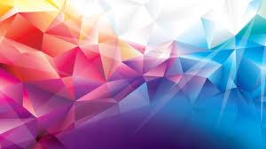 2k Background Wallpaper Polygon 4k Hd Wallpaper Orange Red Blue