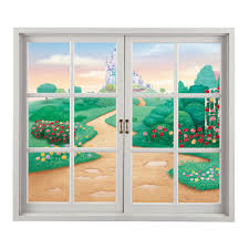Artificial Window Cartoon Contryside View 3d Artificial Window View Pag Wall Decals