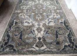 pottery barn nolan persian rug runner 5 by 8 nice neutral blue