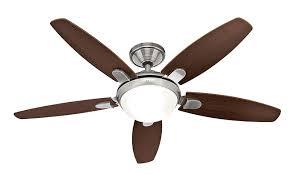 hunter fan 50612 contempo ceiling fan with light brushed nickel 52 w 132 cm 220 240