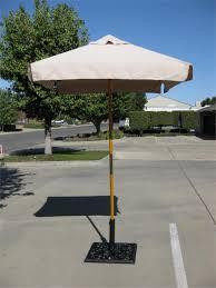 ' square wood market umbrellas with sunbrella canvas