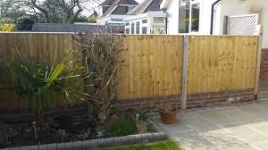 close board fence panels on small retaining wall