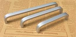 Nueva Aleación De Aluminio Muebles Para El Hogar Hardware Cocina Cajón  Tirador Perilla Gabinete De Plata Armario Armario T Bar Manija