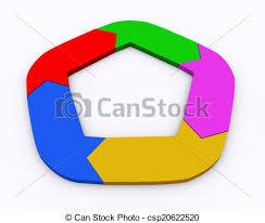 3d Circle Arrow Chart