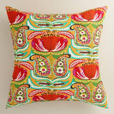 Santiago Paisley Outdoor Throw Pillow