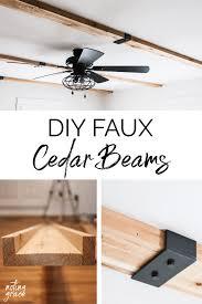 diy faux cedar beams noting grace