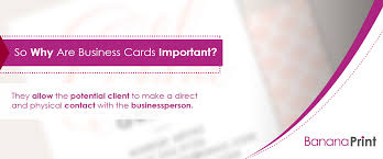 so why are business cards important