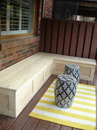 simple deck benches diy deck corner storage bench via ramblingrenovators homemade deck benches