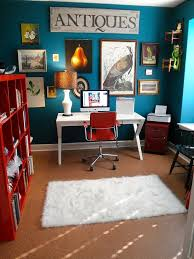 home office paint color schemes. home office color 10 eclectic ideas in cheerful blue paint schemes