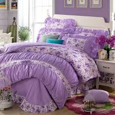 yadidi 100 cotton girls princess purple bedding sets bedroom bed duvet cover twin full queen