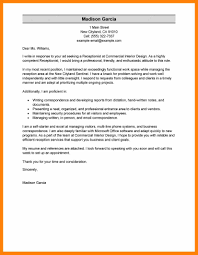 Receptionist Cover Letter For Resume 100 receptionist cover letter example format of notice 42