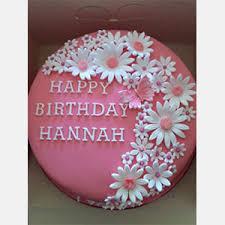 Happy Birthday Flowers And Cake Flower Cake Entitlementtrapcom