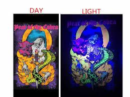 Black Light Coloring Posters Hot Item High Quality Uv Blacklight Velvet Art Poster Printing Glow In The Black Velvet Posters