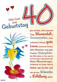 Sprüche 40 Geburtstag Frau Kostenlosglückwünsche Zum 40 Geburtstag