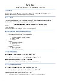 Great Resume Templates Free Cool High School Student Resumeemplate Microsoft Word Senior Examples For