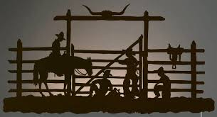 42 cowboys in the corral led back lit lighted metal wall art on cowboy metal wall art with 42 cowboys in the corral led back lit lighted metal wall art wall