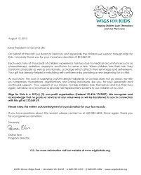 Hair Fair 2012 Total And Receipt Letter From Wigs For Kids