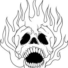 Small Picture Flaming Skull Coloring Pages aecostnet aecostnet