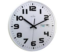 wall clock for office. Austin Day Date And Time Wall Office Clock For