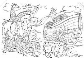 Small Picture 12 Pics Of Noah39s Ark Storybook Coloring Pages Free Noah Ark in