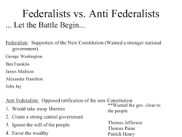 vs anti federalists essay federalists vs anti federalists essay