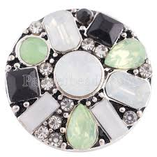 20mm round snap silver plated with colorful rhinestone kc8668 snaps jewelry whole bracelet bangles high quality