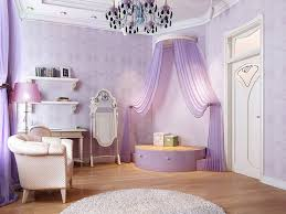 DIY Princess Themed Bedroom For Adults With Purple Wall Art And Laminate  Wood Flooring Design Also Using Crystal Chandelier