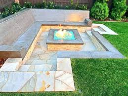 various building an inground fire pit stunning elegant build fire pit